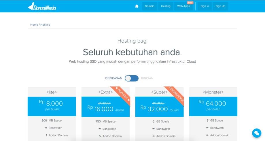 beli domain dan hosting gratis