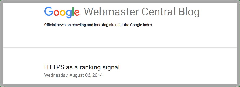 Algoritma Google Terbaru HTTPS