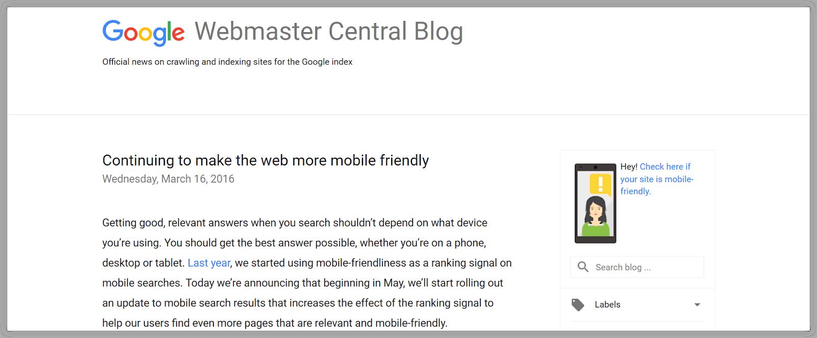 Algoritma Google Terbaru Mobile Friendly 2