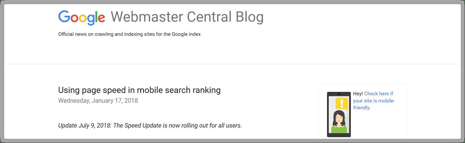 Algoritma Google Terbaru Mobile Speed Update