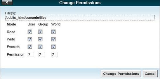 Change Permissions File Direktori di cPanel