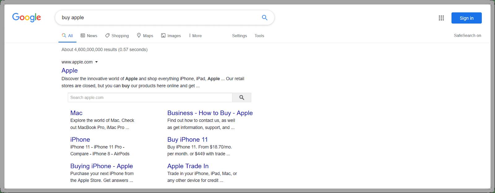 Contoh penerapan algoritma Google Rank Brain