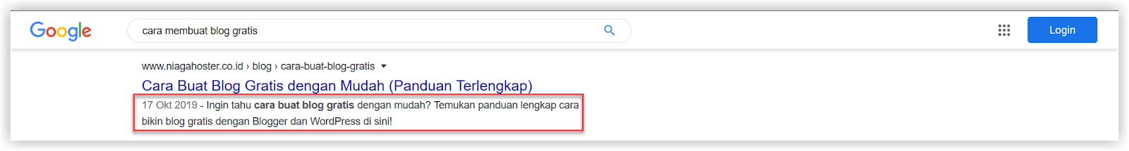 Penerapan algoritma Google Snippet Length Drop