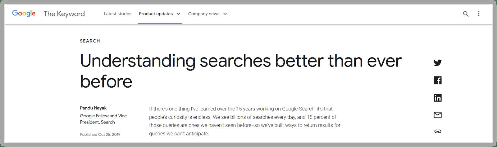 Rilis resmi algoritma BERT 2019