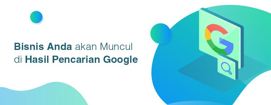 website adalah kunci munculnya bisnis di google