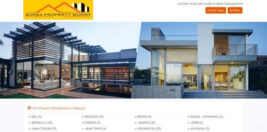 jasa desain website properti murah
