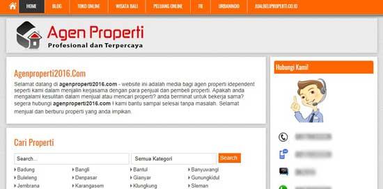 jasa desain website properti semarang